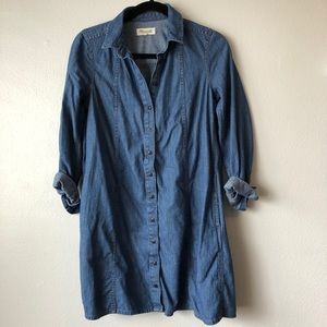 Madewell Chambray Button-Up Dress